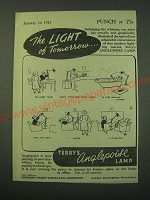 1942 Terry's Anglepoise Lamp Ad - The light of tomorrow