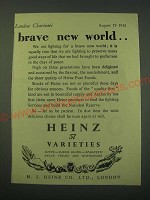 1942 Heinz 57 Varieties Foods Ad - Brave new world