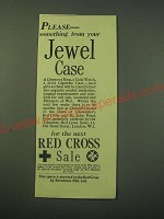 1942 Red Cross Sale Ad - Please - something from your Jewel Case