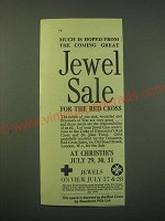 1942 Red Cross Sale Ad - Much is hoped from the coming great Jewel Sale