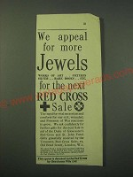 1942 Red Cross Sale Ad - We appeal for more Jewels