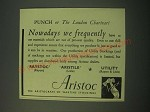 1942 Aristoc Stockings Ad - Nowadays we frequently have to use materials
