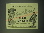 1942 Old Angus Scotch Ad - Great Scotch!