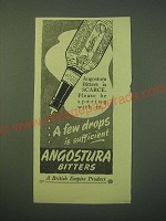 1942 Angostura Bitters Ad - Angostura bitters is scarce. Please be sparing