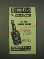 1942 Queen Anne Scotch Whisky Ad - In the better Places