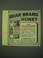 1942 Bear Brand Honey Ad - The premier Brand