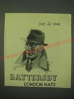 1942 Battersby Hats Ad - Battersby London Hats