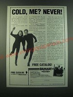 1988 Damart Thermolactyl Underwear Ad - Cold, me? Never!