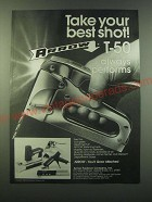 1988 Arrow T-50 Staple Gun Ad - Take your best shot!