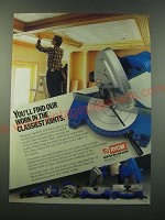 1988 Ryobi Miter Saws Ad - You'll find our work in the classiest joints