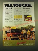 1988 Chevrolet Chevy Astro Ad - Yes, you can.
