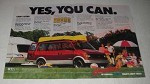 1988 2-page Chevrolet Chevy Astro Ad - Yes, you can.