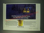 1988 Cabot Stains Ad - Of all the insurance for your home