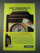 1988 Minwax Wood-Sheen Ad - Timeless Beauty in no time at all