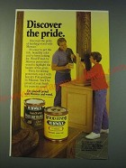 1988 Minwax Wood Finish and Polyurethane Ad - Discover the pride