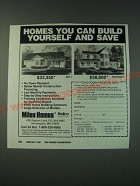 1988 Miles Homes: Tyler I and Huntington Ad - Homes you can build yourself