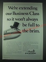 1989 Air New Zealand Ad - We're extending our Business Class