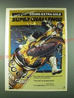 1989 Coors Extra Gold Beer Ad - The best of Supercross