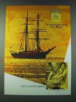 1989 Cutty Sark Scotch Ad - The uncommonly smooth Scots Whisky