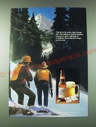 1989 Budweiser Beer Ad - This Bud's for every deer hunter who has stalked
