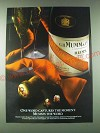 1989 Mumm Cordon Rouge Champagne Ad - One word captures the moment