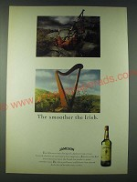 1989 Jameson Whisky Ad - The smoother the Irish - Harp