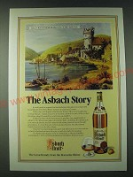 1989 Asbach Brandy Ad - Old Ruedesheim-on-the-Rhine