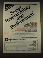 1989 Dreyfus Third Century Fund Ad - Social responsibility and performance