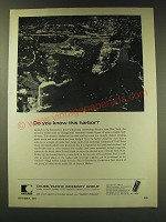 1971 Chubb / Pacific Indemnity Group Ad - Do you know this harbor?