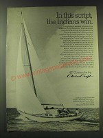 1970 Chris-Craft 42' Comanche Yacht Ad - In this script, the Indians win