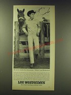 1964 Lee Westerners Ad - Guy Weeks All set to tackle the show pens