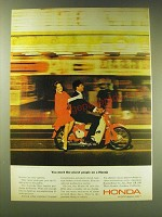 1964 Honda 50 Motorcycle Ad - You meet the nicest people on a Honda