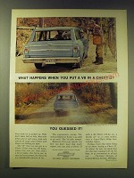 1964 Chevrolet Chevy II Nova Station Wagon Ad - What happens when you put a V8