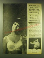 1964 Maidenform Sweet Music Bra Ad - Who took the curling rippling twisting out