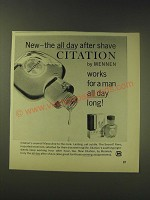 1964 Mennen Citation After Shave Ad - New - the all day after shave