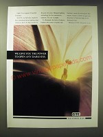 1989 GTE Sylvania Lighting Ad - We give you the power to open any darkness