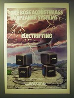 1989 Bose Acoustimass Speaker Systems Ad
