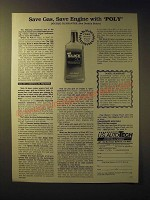 1989 PetroLon Corporation Slick 50 Ad - Save gas, save engine with Poly