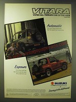 1989 Suzuki Vitara Ad - Vitara Voted All-terrain car of the year