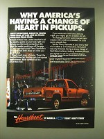 1989 Chevy Sportside Truck Ad - Why America's having a change of heart