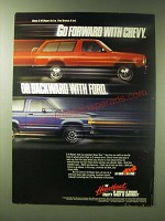 1989 Chevy S-10 Blazer Ad - Go forward with Chevy. Or Backward with Ford
