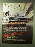1989 Chevy Caprice Classic Brougham Car Ad - Lap of luxury