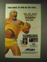 1989 Acclaim WrestleMania Video Game Ad - Two ways to win in the ring