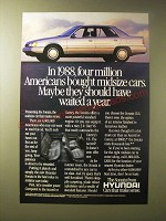 1989 Hyundai Sonata Ad - In 1988, four million Americans bought midsize cars.