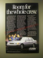 1989 Hyundai Sonata Ad - Room for the whole crew