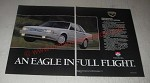 1989 Eagle Premier ES Limited Car Ad - An Eagle in Full Flight