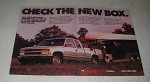 1989 Chevy Short-Box Chevy Pickup Truck Ad - Check the new box