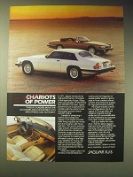 1989 Jaguar XJ-S Coupe and Convertible Ad - Chariots of power