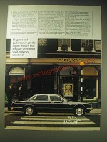 1989 Jaguar Vanden Plas Car Ad - Elegance and performance