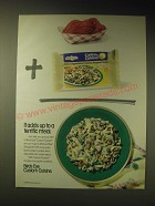 1989 Birds Eye Custom Cuisine Ad - It adds up to a terrific meal